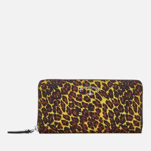 Vivienne Westwood Women's Zip Round Wallet - Yellow Leopard