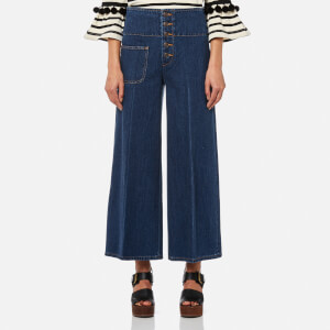 Marc Jacobs Women's Wide Leg Jeans - Indigo