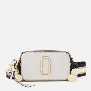 Marc Jacobs Women's Snapshot Beads and Poms Bag - Platinum/Multi