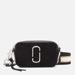 Marc Jacobs Women's Snapshot Pave Chain Cross Body Bag - Black