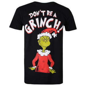 T-Shirt Homme Don't Be A Grinch - Noir