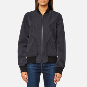 Hunter Women's Original 3 Layer Nylon Bomber Jacket - Black