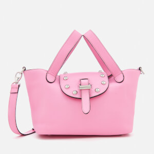 meli melo Women's Thela Mini Tote Bag with Studs - Peony Pink