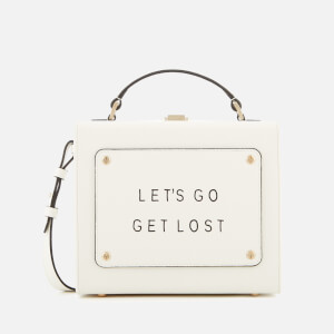 meli melo Women's Art Bag with Text - White