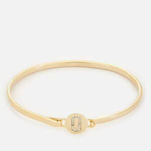 Marc Jacobs Women's Double J Pave Hinge Cuff Bracelet - Gold