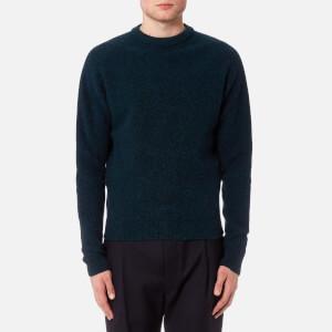 Lemaire Men's Oversized Crew Neck Sweatshirt - Petrol Blue
