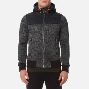Superdry Men's Storm Mountain Hybrid Zip Hoody - Black/Grey Grit