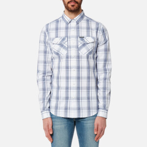 Superdry Men's Washbasket Long Sleeve Shirt - Bourn White Check