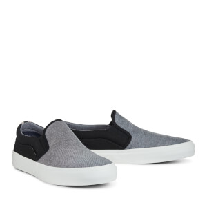 Jack & Jones Men's Rush Chambray Mix Plimsolls - Anthracite