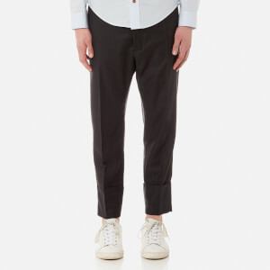 Vivienne Westwood MAN Men's Morning Stripe Cropped Trousers - Black
