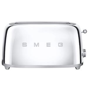 Smeg TSF02SSUK 4 Slice Toaster - Chrome