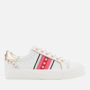 Carvela Women's Lax Leather Flatform Trainers - White/Comb