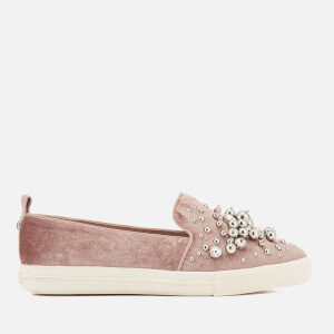 Miss KG Women's Lareina Velvet Slip-On Trainers - Nude