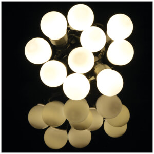 Lyyt 10 Bauble Outdoor Festoon LED Lights - Warm White