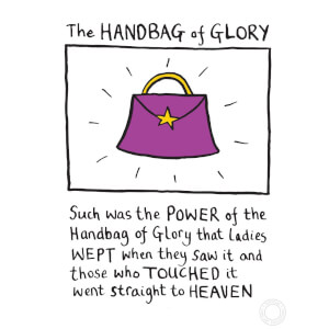 Edward Monkton 'Handbag Of Glory' Limited Edition Art Print
