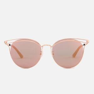 McQ Alexander McQueen Women's Metal Catseye Sunglasses - Gold/Gold/Pink