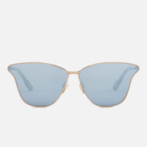McQ Alexander McQueen Women's Metal Catseye Sunglasses - Gold/Gold/Light Blue