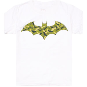 DC Comics Boys' Camo Bat T-Shirt - White