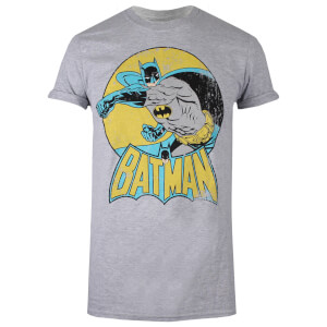 DC Comics Women's Batman Retro T-Shirt - Sport Grey