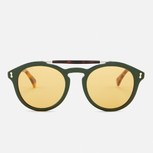 Gucci Men's Flip Top Aviator Sunglasses - Havana/Green