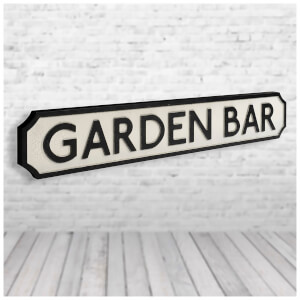 Shh Interiors 'Garden Bar' Vintage Street Sign