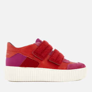 MM6 Maison Margiela Women's Chunky Sole Double Velcro Strap Trainers - Pink/Red