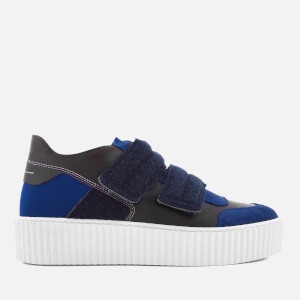 MM6 Maison Margiela Women's Chunky Sole Double Velcro Strap Trainers - Navy/Black