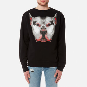 Marcelo Burlon Men's Dogo Crewneck Sweatshirt - Black Multicolor