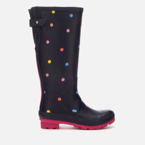 Joules Women's Welly Print Adjustable Tall Wellies - Navy Pop Spot