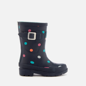 Joules Kids' Tiny Spot Wellies - Navy