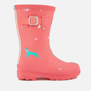 Joules Kids' Festival Friends Wellies - Bright Pink