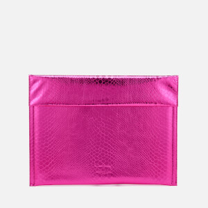 MM6 Maison Margiela Women's Snake Lame Clutch Bag - Fuchsia