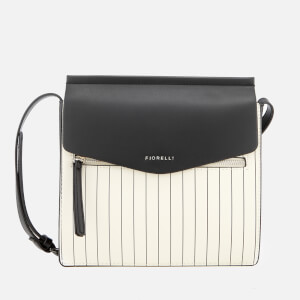 Fiorelli Women's Mia Large Cross Body Bag - White Pin Stripe