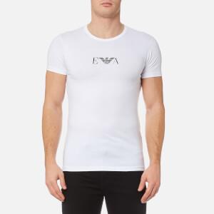 Emporio Armani Men's 2 Pack Cotton Stretch Crew Neck T-Shirt - Bianco