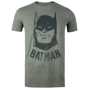 DC Comics Men's Batman Vintage T-Shirt - Heather Military