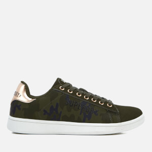 Superdry Women's Army Suede Trainers - Camo: Image 1