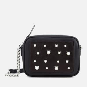 Karl Lagerfeld Women's Cat Pearl Small Cross Body Bag - Black