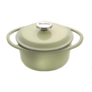 Berndes Cast Iron Round Casserole Dish - 20cm/2.4L - Green