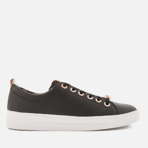 Ted Baker Women's Kellei Leather Cupsole Trainers - Black