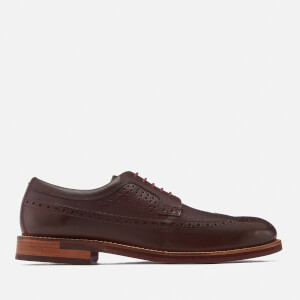 Ted Baker Men's Deelani Leather Brogues - Dark Red