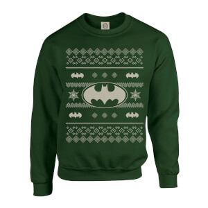 DC Comics Originals Batman Knit Green Christmas Sweatshirt