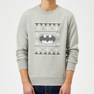 Pull de Noël Homme DC Comics - Batman Logo - Gris