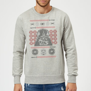 Pull de Noël Homme Star Wars Dark Vador - Gris