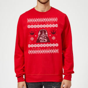 Star Wars Darth Vader Christmas Knit Red Christmas Sweater