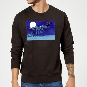 Pull de Noël Homme Star Wars Dark Vador AT-AT Luge - Noir