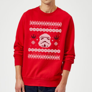 68339a8f5e13dc Star Wars Christmas Stormtrooper Knit Red Christmas Sweatshirt