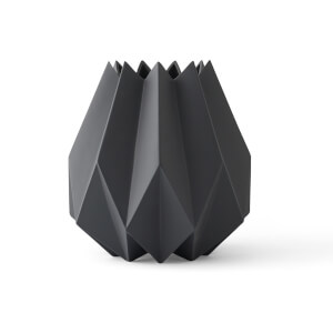 Menu Folded Vase - Tall - Carbon