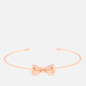Ted Baker Women's Olexii: Mini Opulent Pavé Bow Ultra Fine Cuff - Rose Gold/Crystal