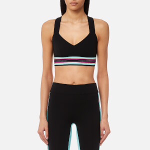 NO KA'OI Women's Ola Sports Bra with Multicoloured Band - Black