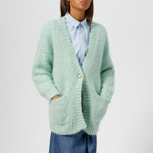 Gestuz Women's Behar Loose Knitted Cardigan - Silt Green